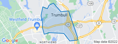 Map of Trumbull Center, Trumbull CT