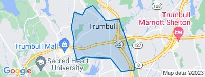 Map of Trumbull Center, Trumbull CT