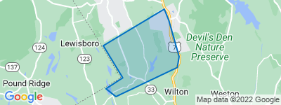 Map of North Wilton, Wilton CT