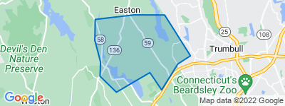 Map of Lower Easton, Easton CT