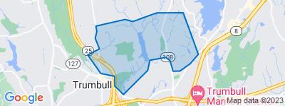 Map of Huntington, Trumbull CT