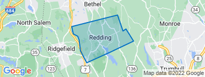 Map of Redding, CT