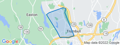 Map of Long Hill, Trumbull CT