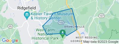 Map of Branchville, Ridgefield CT