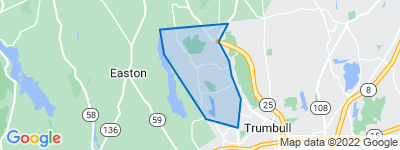 Map of Tashua, Trumbull CT