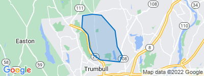 Map of Hillandale, Trumbull CT