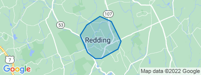 Map of Redding Center, Redding CT