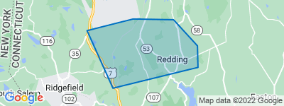 Map of West Redding, Redding CT