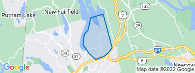 Map of Great Plain, Danbury CT