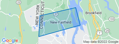 Map of South New Fairfield, New Fairfield CT
