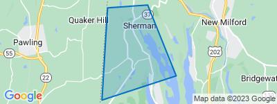Map of South Sherman, Sherman CT
