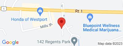 Map of Regents Park  Condo Complex, in Post Rd E Westport CT