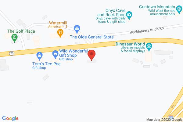 Mapped location of Dinosaur World