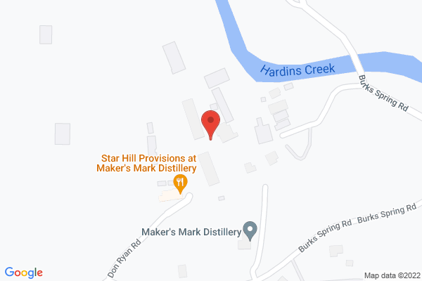 Mapped location of Maker's Mark Distillery