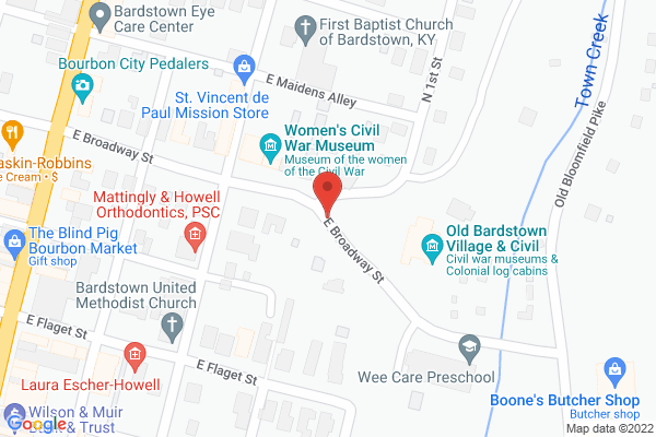 Mapped location of Old Bardstown Village - Civil War Museum of the Western Theater