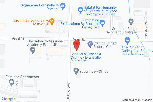 Mapped location of Scheller's Fitness & Cycling - Evansville