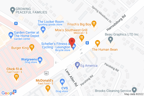 Mapped location of Scheller's Fitness & Cycling - Lexington