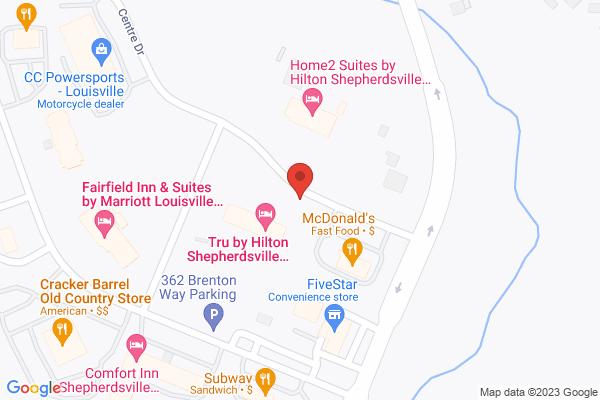 Mapped location of Tru by Hilton Shepherdsville Louisville South
