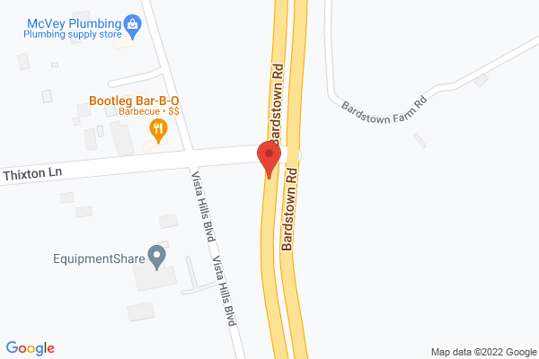 Mapped location of Bootleg Barbecue Company