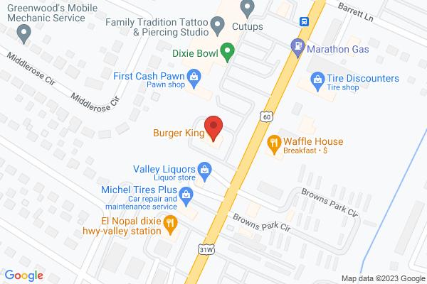 Mapped location of Applebee's