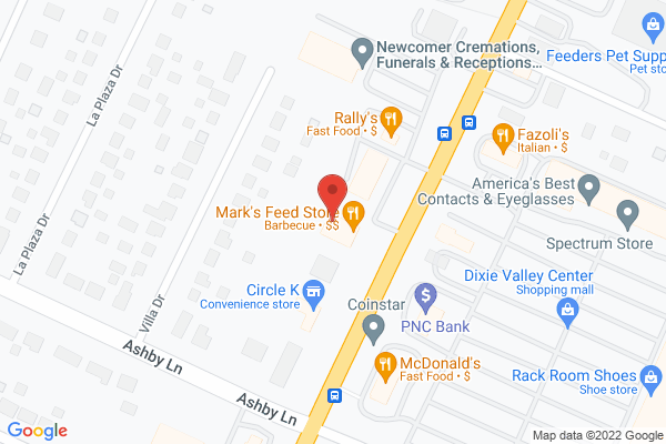 Mapped location of Mark's Feed Store Bar-B-Q (Dixie Hwy)