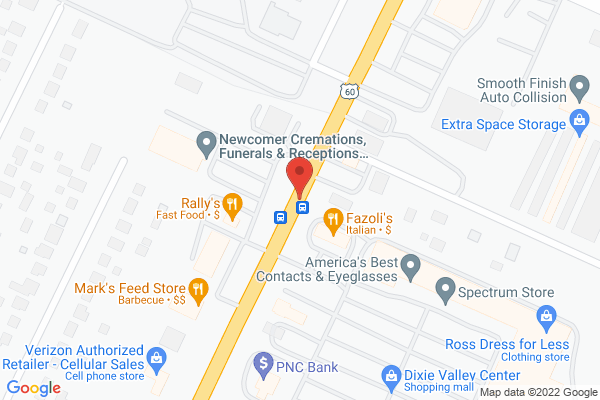 Mapped location of Chong Garden