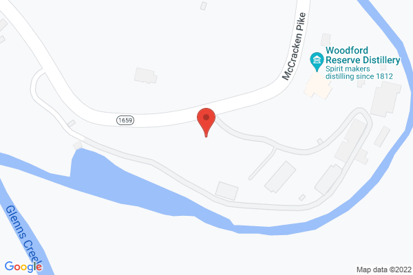 Mapped location of Woodford Reserve Distillery