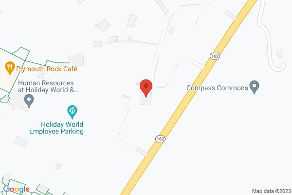 Mapped location of Holiday World & Splashin' Safari