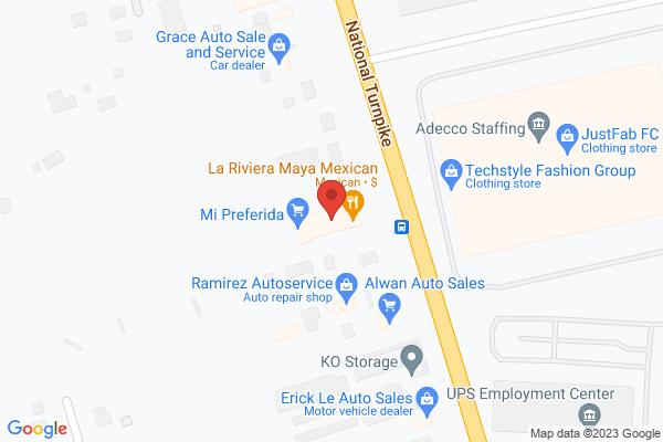 Mapped location of La Riviera Maya