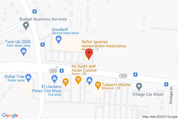 Mapped location of Senor Iguanas