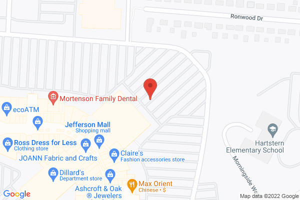 Mapped location of Jefferson Mall