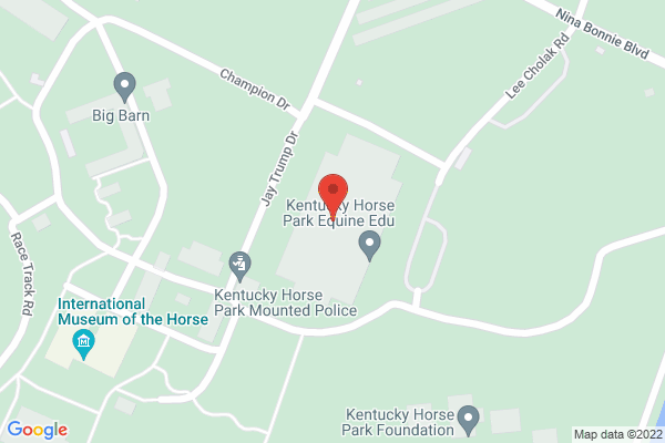 Mapped location of Kentucky Horse Park