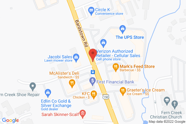 Mapped location of Honeybaked Café