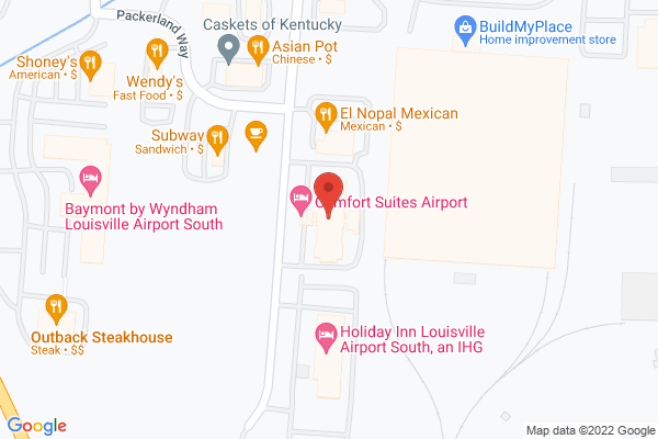 Mapped location of Comfort Suites Airport