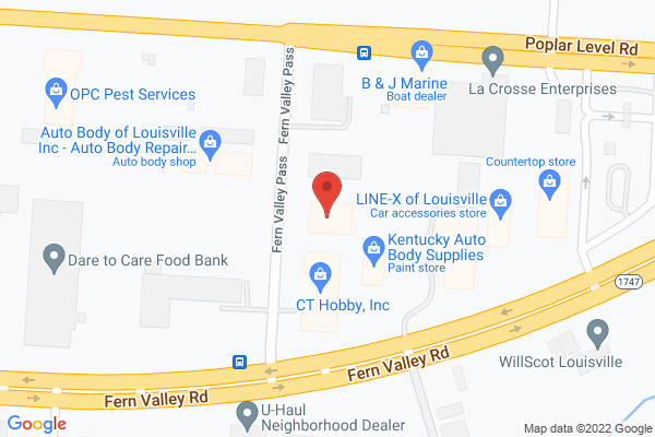 Mapped location of Louisville Chorus