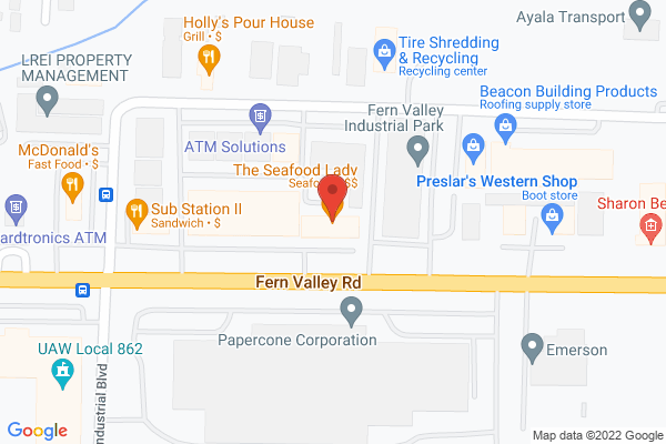 Mapped location of Seafood Lady