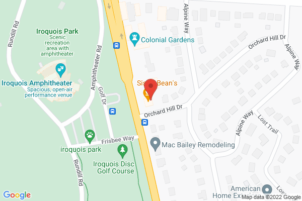 Mapped location of Sister Beans