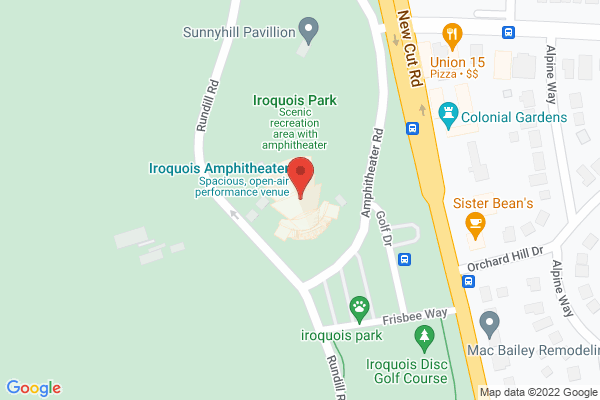 Mapped location of Iroquois Amphitheater