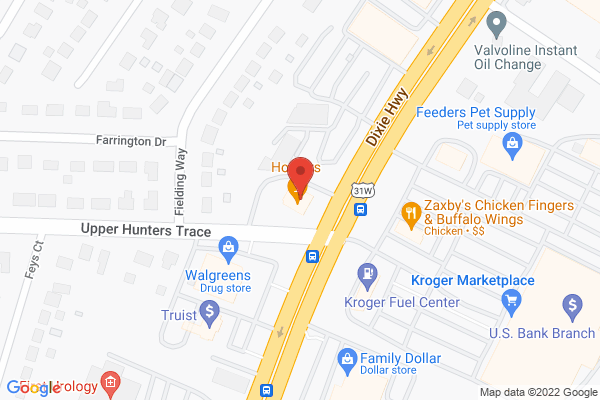 Mapped location of Hooter's