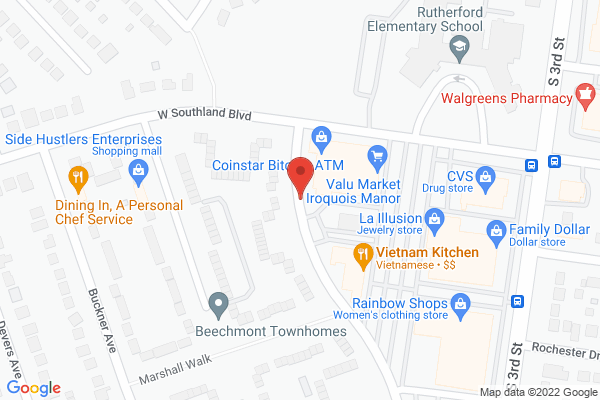 Mapped location of Vietnam Kitchen