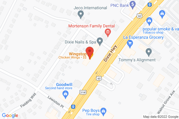 Mapped location of Wingstop
