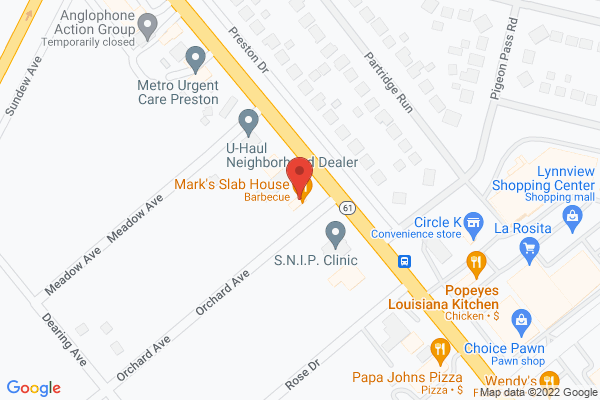 Mapped location of Mark's Slab House