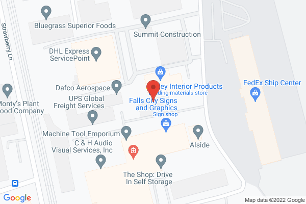 Mapped location of C & H Audio Visual Services, Inc.