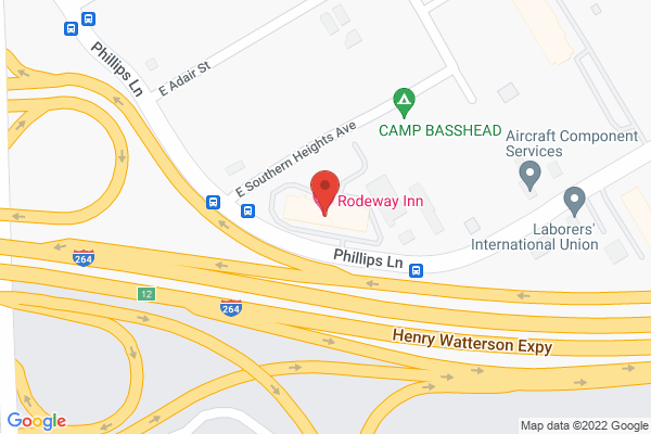 Mapped location of Rodeway Inn