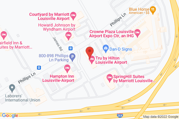 Mapped location of Tru by Hilton Louisville Airport