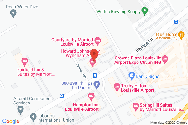 Mapped location of Howard Johnson by Wyndham Airport