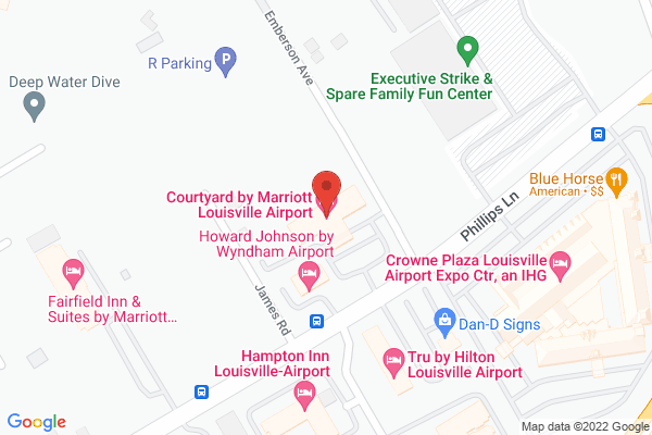 Mapped location of Courtyard by Marriott Louisville Airport