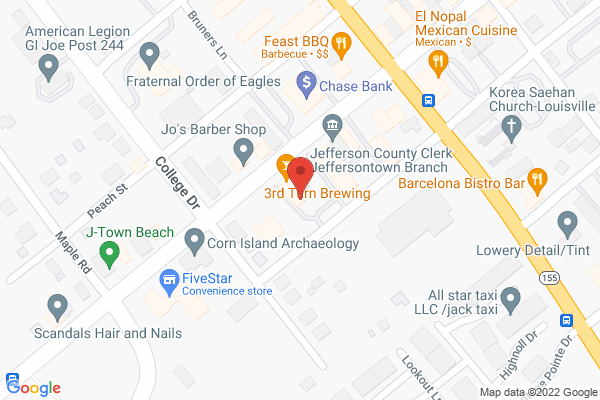 Mapped location of 3rd Turn Brewing