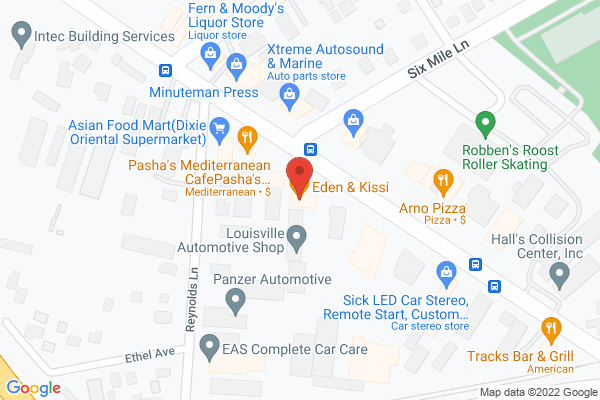 Mapped location of Eden & Kissi