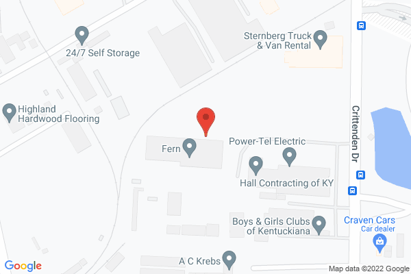 Mapped location of Fern Exposition & Event Services